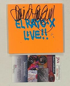 """David Lindley EL RAYO-X Signed Autograph Auto """"Live!!"""" CD JSA COA"""