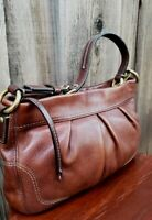 Coach Hamptons Handbag Brown Leather Shoulder Bag 12917, vintage