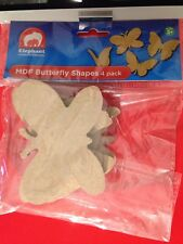 BRAND NEW ELC MDF Butterfly Shapes 4 Pack - #A5