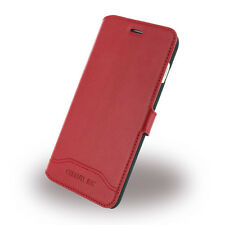Genuine CERRUTI 1881 Smooth Split Leather Red Book Case Cover for iPhone 7 Plus