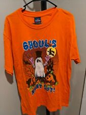 Halloween Ghouls Night Out Tshirt Orange Short Sleeve Adult Large L