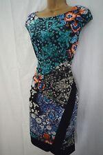NEW WALLIS FLORAL SHIFT DRESS BODYCON WRAP TROPICAL BLACK GREY TEAL PINK 8 - 18