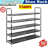 Shoe Rack Organizer 5 Tiers Storage Home Organizer Holder Space Saving 25 Pairs