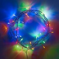 80 LED Multicolored String Fairy Lights Battery Operated Xmas Party Decorations