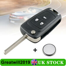 For Vauxhall Opel Astra J Insignia A 3 Button Key Fob Case Battery Repair Kit