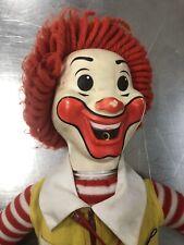"Vintage 1978 Ronald McDonald Clown Doll Hasbro Whistle Grimace 22"" High"