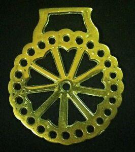 Vintage NINE HEARTS PIERCED FRAME AROUND Harness Brass England WOW YOUR WALLS!