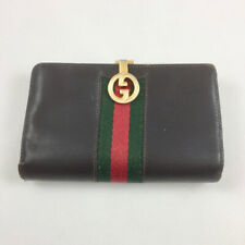 Gucci Wallet Billfold Vintage Brown Leather All Original   NICE!!