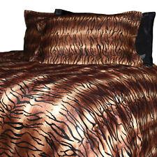 Velvet Fur Tiger Print QUEEN SIZE Quilt Cover Set Doona Duvet New Animal Bedding
