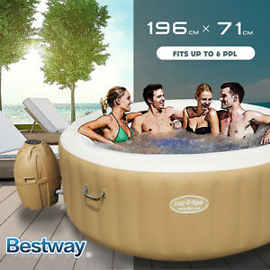 [20%OFF]Bestway Inflatable Spa Massage Hot Tub Portable LAY Z Spa Outdoor Pool