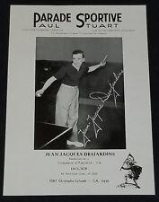 1940's PARADE SPORTIVE - JEAN JACQUES DESJARDINS - TABLE TENNIS - ORIGINAL PHOTO