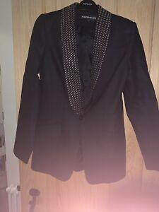 Warehouse Studded Lapel Wool Blazer/Jacket Size 12