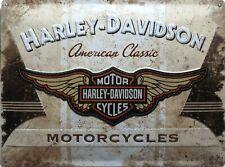 PLAQUE METAL vintage HARLEY DAVIDSON Américan Classic - 40 x 30 cm