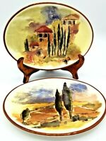 """Pair of Williams-Sonoma Oval 8"""" Serving Plates Made in Portugal"""