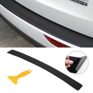 Car Rear Boot Bumper Sill Protector Plate Cover Guard Trim Strip Carbon Fiber HY