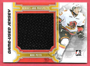 2013-14 Niki Petti ITG In The Game Heroes and Prospects Rookie Jersey /160
