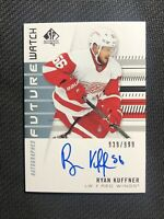 2019-20 SP AUTHENTIC RYAN KUFFNER ROOKIE FUTURE WATCH AUTO #ed 939/999