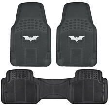 Dark Night Rubber Floor Mats Car 3 PC Front Heavy Duty All Weather Protection