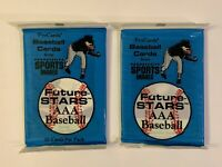 1990 Pro Cards Future Stars AAA Baseball Cards Factory Sealed - 2 Pack LOT