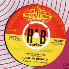 "SUGAR PIE DESANTO I Don't Wanna Fuss / I Love You So Much 7"" Looks MINT 1964"