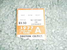 1977 Boston Celtics v San Antonio Spurs Playoff Basketball Ticket Game 1