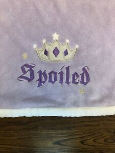 Tiddliwinks Purple SPOILED Baby Girl Blanket Plush Lavender Tiara Crown Princess