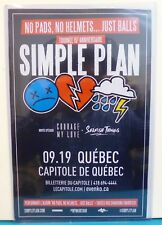 fr. Poster 11x17 Simple Plan 2017 Concert Tour No pads, no helmets. just balls