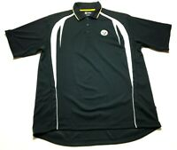 NFL Pittsburgh Steelers Mens Black Short Sleeve Polo Shirt Size XL