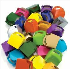 15 Assorted Coloured Boxes - Toy Loot/Party Bag Fillers Wedding/Kids Food Meal