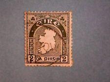 Eire. 1922 2d Grey-Green. SG74. Wmk W10. P15 x 14. Used.