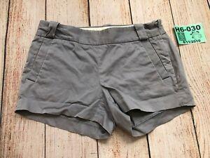 J Crew Women Chino Shorts Size 2 Gray Cotton spandex side zipper dressy 37417❄️