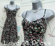 H&M - Floral print Tea Dress Sz 10 EU38