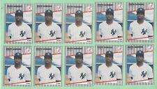 10 card lot of 1989 Fleer Update #U-53 Deion Sanders RC rookie card - Yankees