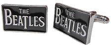THE BEATLES Logo Metal/Enamel CUFFLINKS