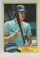 1981 Topps Baseball Seattle Mariners Team Set