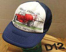 VINTAGE ODESSA TRADING COMPANY CHEMICALS FERTILIZE  HAT WASHINGTON GRAY GUC D12