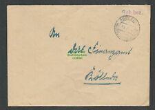 B-5576 SBZ Gebühr Bezahlt Brief Gorsleben über Heldrungen 1948 an Finanzamt Köll
