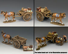 KING & COUNTRY FIELDS OF BATTLE FOB098 REFUGEE HORSE & CART SET MB