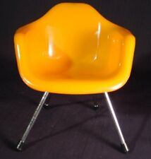 Miniature Sampler Eames DAW Chair Mid Century Modern Home Decor Tangerine Orange
