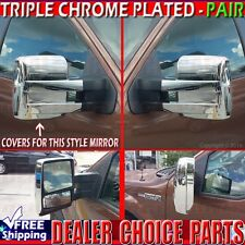 2009 2010 2011 2012 2013 2014 Ford F150 Triple Chrome Towing Mirror COVERS