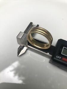 14k Men's gold ring wedding band pre owned auction Gold Scrap