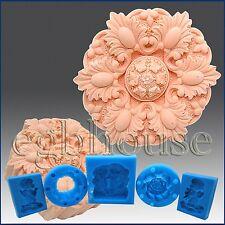 2D Silicone Chocolate / food grade Mold – Lozenge and Leaf Rosette