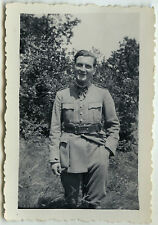 PHOTO ANCIENNE - MILITAIRE PORTRAIT GAY INTEREST -MILITARY 1933-Vintage Snapshot