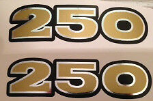 KAWASAKI S1 250 S1A 250 KH250 TRIPLE SIDE PANEL DECALS