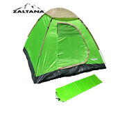 Zaltana 3 Person Dome tent & self Inflatable air mattress combo