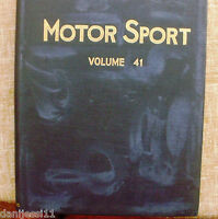 Motor Sport/ Volume 41/ The Teesdale Publishing/ 1965/January to December/London
