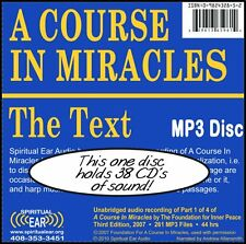 Enhanced Clarity Recording ACIM Audio - A Course In Miracles TEXT on MP3 Disc