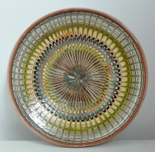 traditional Horezu ceramic plate handmade handpainted glazed art pottery Romania