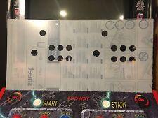 Mortal Kombat Style 6 Button Arcade Lexan Mame Control Panel NOS CPO