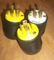 Lot of 3 Pass & Seymour 20A 250V 30 MALE Twist-Lock Plug